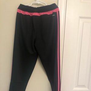 adidas Pants - pink and black adidas sweatpants